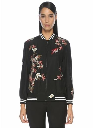 Alice+Olivia Çiçek Desenli Ceket Siyah